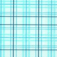 Lunch Servietten Scottish Check blue