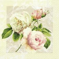 Servetten 33x33 cm - Huisje Rose