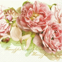 Serviettes de table 33x33 cm - Mary Roses