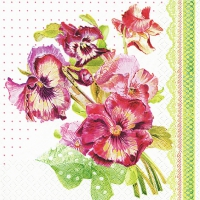 Lunch napkins Painted Pansy