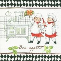 Lunch Servietten Jacques and Luigi