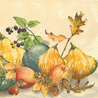 Lunch napkins Painted Pumpkins