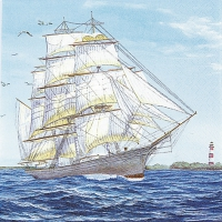 Lunch napkins Sailing Ship