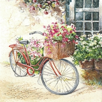 Napkins 33x33 cm - Flower Bike