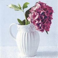 Lunch Servietten Vase of Hydrangea