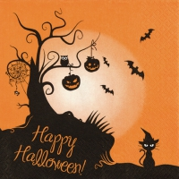 Serviettes de table 33x33 cm - 2 en1 Halloween