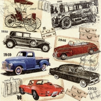 Serviettes lunch Classic Cars