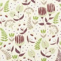 Serviettes de table 33x33 cm - Flore tropicale