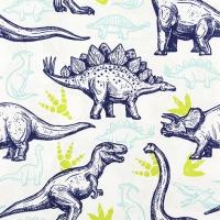 Serviettes de table 33x33 cm - dinosaures