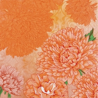 Serviettes de table 33x33 cm - Orange pure et forte