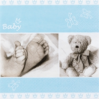 Lunch napkins Baby blue