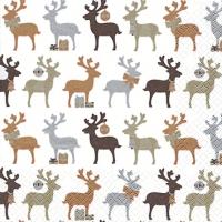 Cocktail napkins Reindeer kupfer