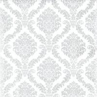 Servilletas 25x25 cm - Plata elegante