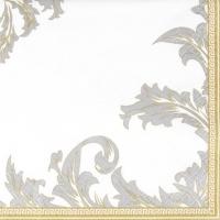 Servietten 25x25 cm - Luxuriöses Gold/Silber
