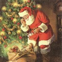 Cocktail Servietten A Gift for Santa