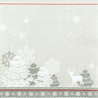 Servietten 25x25 cm - Winter-Silhouetten