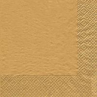Cocktail napkins Uni gold