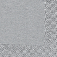 Cocktail napkins Uni silber