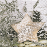 Napkins 33x33 cm - Wooden Star