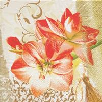 Serviettes de table 33x33 cm - Noble Amaryllis