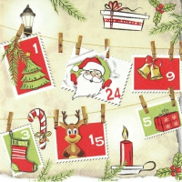 Napkins 33x33 cm - Advent calendar