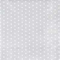 Serviettes de table 33x33 cm - Mini Étoiles argent argentés
