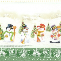 Lunch napkins Snowman Meeting