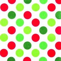 Lunch Servietten Maxi Dots red/green