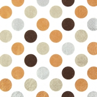 Lunch napkins Maxi Dots copper