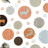 Lunch Servietten Deers in Dots copper