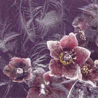 Lunch napkins Icy Christmas Rose