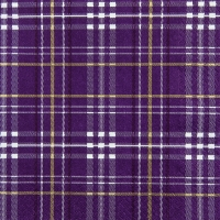Lunch napkins Scottish Check berry