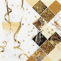 Napkins 33x33 cm - New Year Celebration