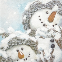 Serviettes lunch Cozy Snowmen