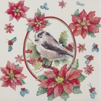 Lunch napkins Winter Chickadee
