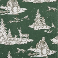 Lunch napkins Hivernal vert