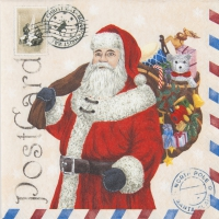 Lunch napkins Santa Postcard