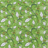 Lunch napkins Graphic Ilex green