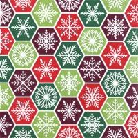Салфетки 33x33 см - Снежинка