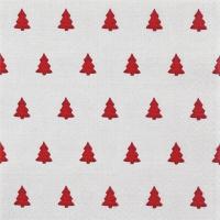 Serwetki 33x33 cm - Len Drzewa czerwone