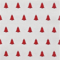 Napkins 33x33 cm - Linen Trees red