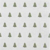 Napkins 33x33 cm - Linen Trees green