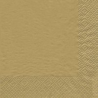 Lunch napkins Uni gold