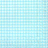 Servietten 25x25 cm - VICHY Vintage Oberlicht blau