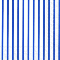 Napkins 25x25 cm - STRIPES AGAIN white dark blue