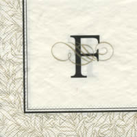 Cocktail napkins FLOURISH F