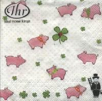 Cocktail napkins LUCKY PIGGY