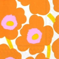 Cocktail napkins UNIKKO orange