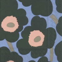 Cocktail napkins UNIKKO green blue