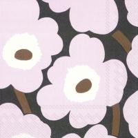 Serviettes de table 25x25 cm - UNIKKO rose